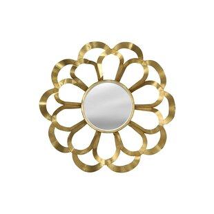 StyleCraft Home Gold Petal Wall Mirror