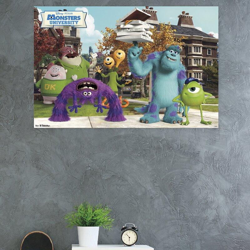 Trends International Monsters University Oozma Kappa Paper Print Wayfair
