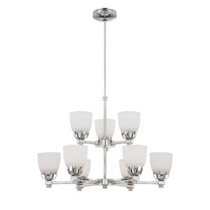 Brookview 9-Light Shaded Chandelier
