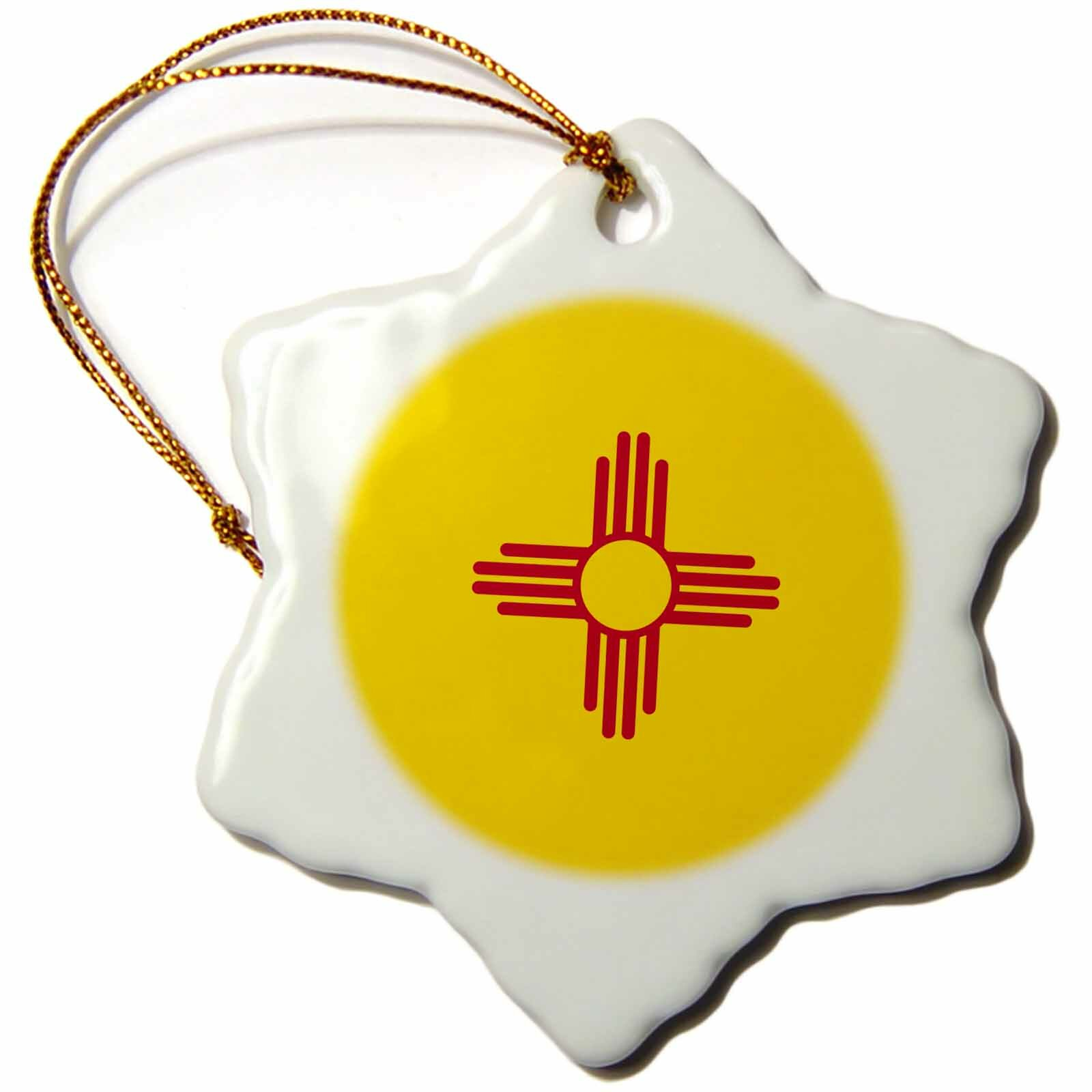The Holiday Aisle Flag Of New Mexico Snowflake Holiday Shaped Ornament Wayfair