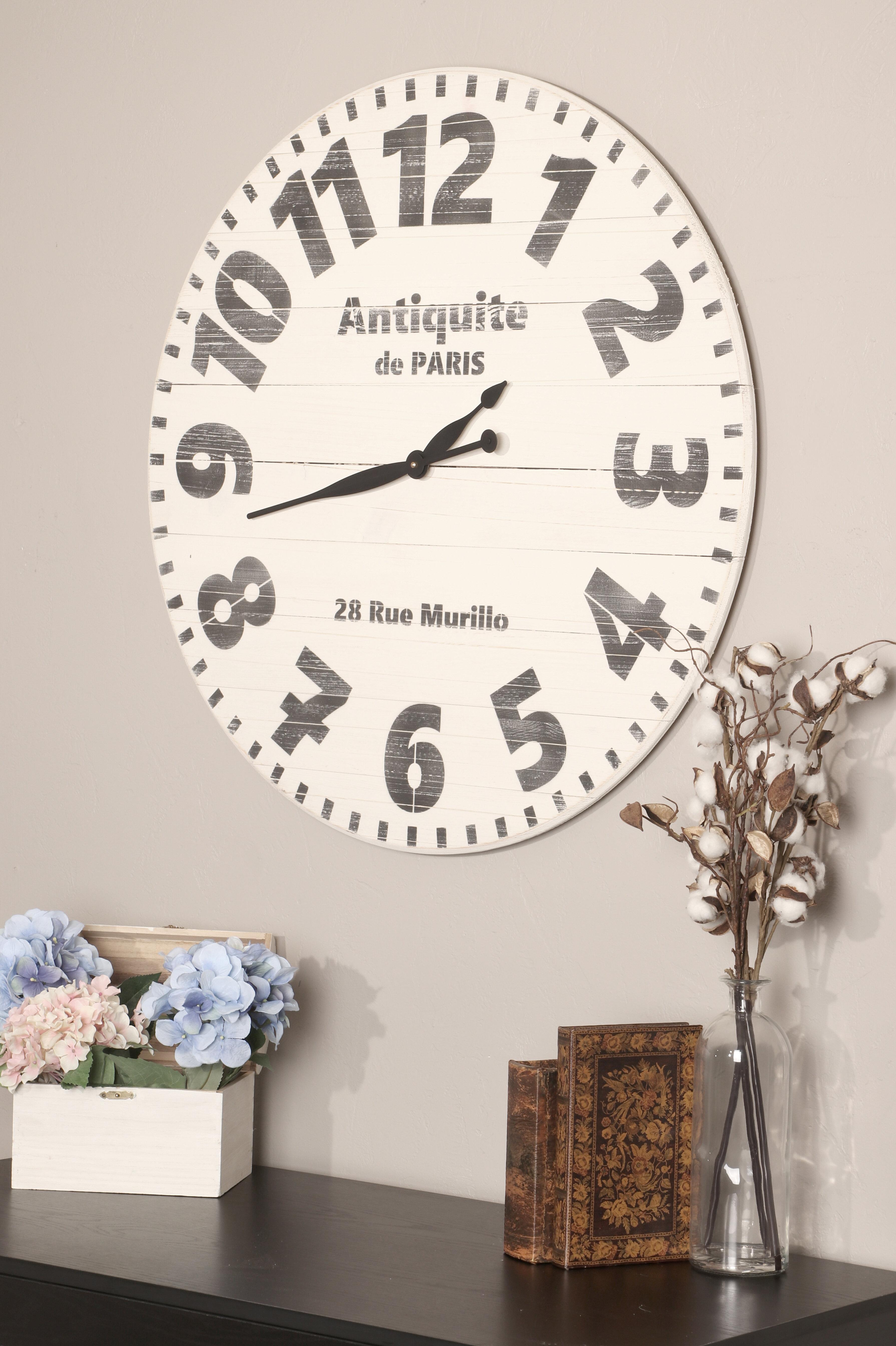 Ophelia Co Oversized Eder Wall Clock Reviews Wayfair