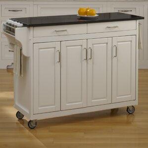 regiene kitchen island with granite top