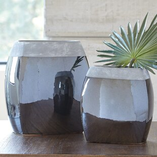 Simple 2 Piece Floor Vase Set