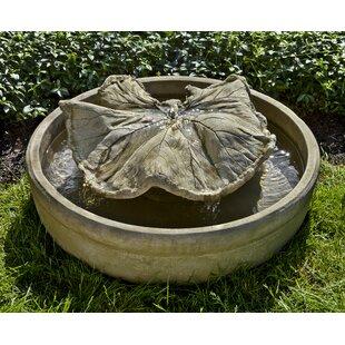 Campania International Concrete Leaf Spiller Fountain