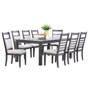 Middlebury 9 Piece Dining Set Red Barrel Studio