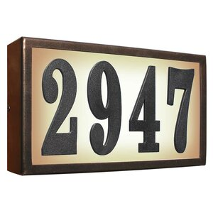Serrano Lighted 1-Line Wall Address Plaque