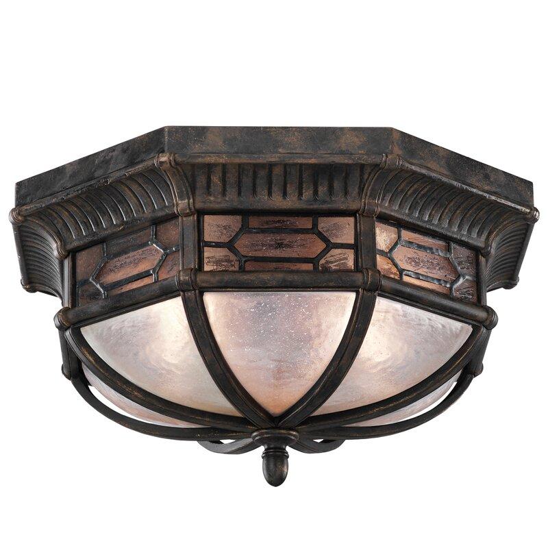 Fine Art Lamps Devonshire Bronze 2 Bulb 16 W Outdoor Semi Flush Mount Perigold