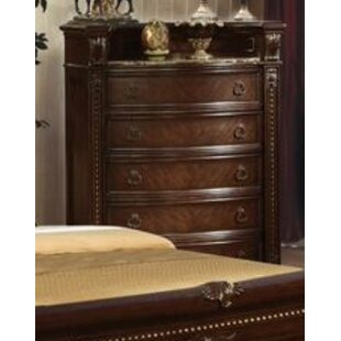 Ralls Marble Top 5 Drawer Chest