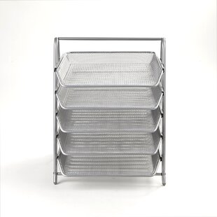 Mind Reader 5 Tier Steel Mesh Paper Tray Desk Organizer