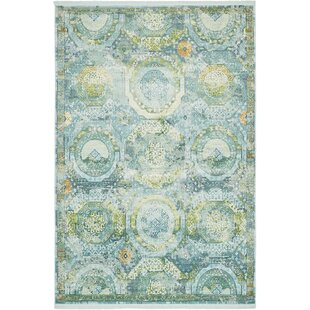 Affordable Lonerock Green/Light Blue Area Rug By Bungalow Rose