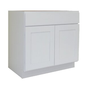 Shaker Cabinet 24 Single Bathroom Vanity Base by NGY Stone & Cabinet