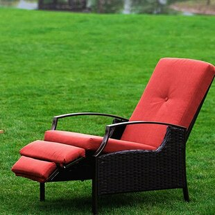 Ebern Designs Feldt Reclining Chaise Lounge with Cushion