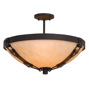 Kalco Rodeo Dr. 3-Light Semi Flush Mount