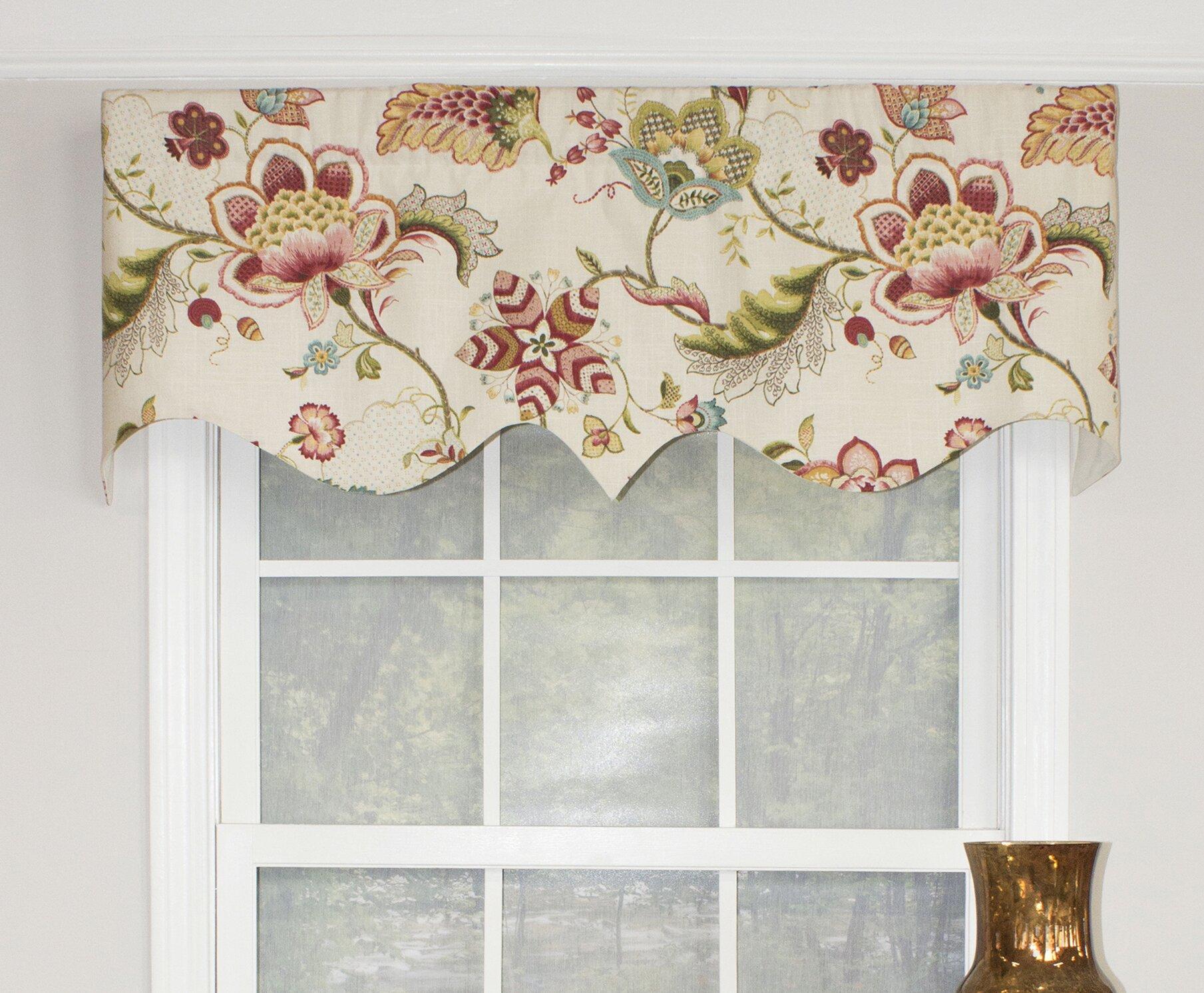 Red Barrel Studio Dunshee Floral Regal 50 Window Valance Reviews Wayfair