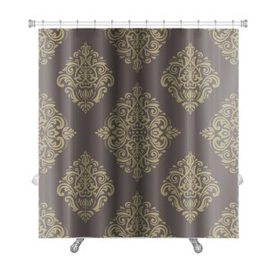 Primo Damask Fine Traditional Fine Ornament Oriental Elements Premium Single Shower Curtain