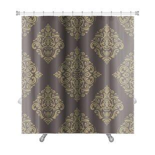 Primo Damask Fine Traditional Fine Ornament Oriental Elements Premium Single Shower Curtain