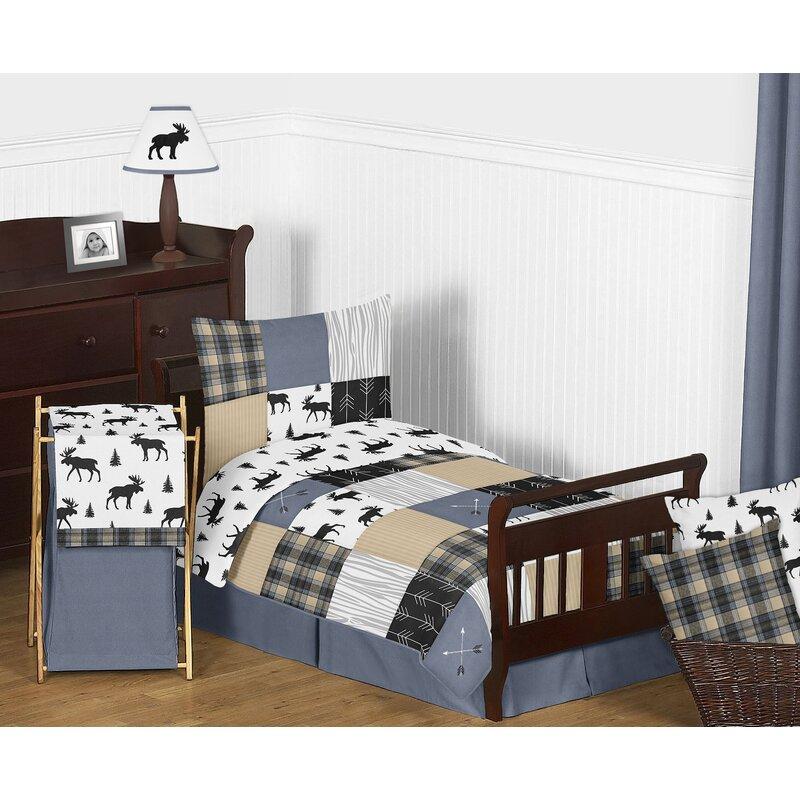 Sweet Jojo Designs Rustic Patch 5 Piece Toddler Bedding Set Wayfair