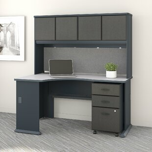 Series A Left Corner 3 Piece L-Shape Desk Office Suite