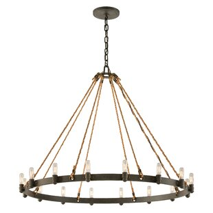 Longshore Tides Holly 16-Light Wagon Wheel Chandelier