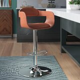 Iroh Swivel Adjustable Height Bar Stool by Ivy Bronx