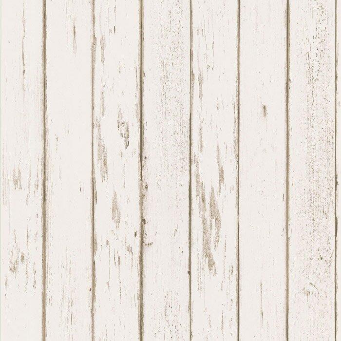Northwoods Distressed Plank Wallpaper