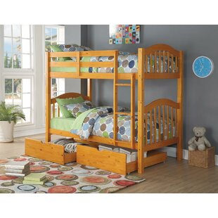Sepe Twin over Twin Bunk Bed with 2 Drawers by Harriet Bee