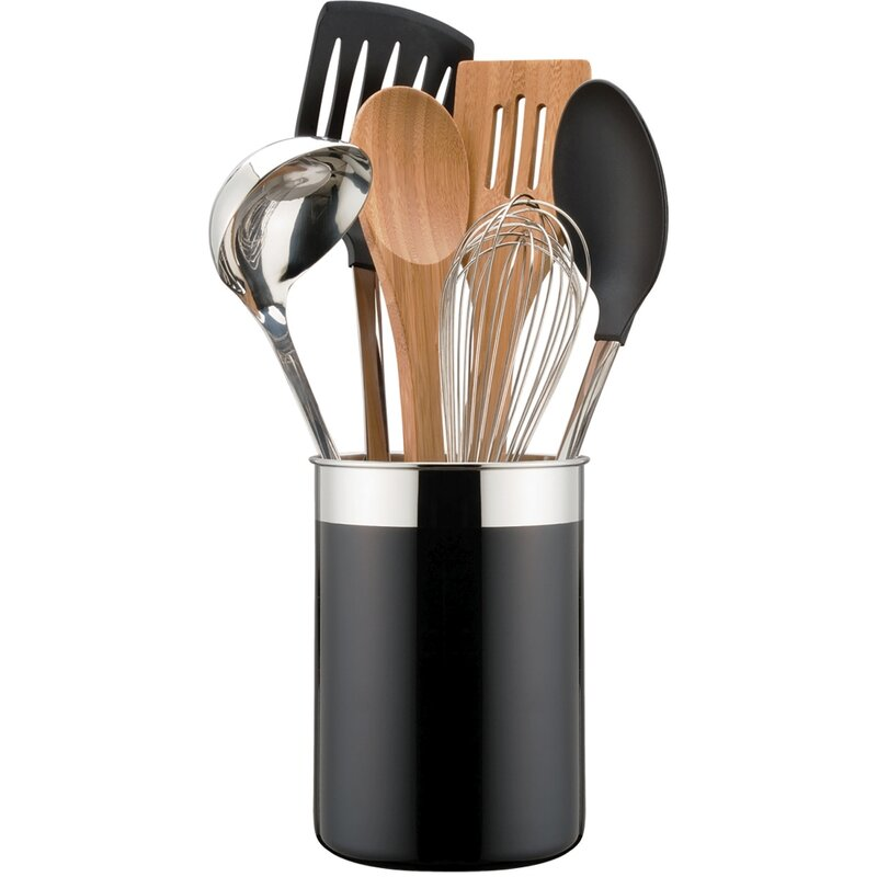 Oneida 7 Piece Enamel Crock Tool Utensil Set Amp Reviews