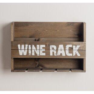 Maye 5 Bottle Wall Mounted Wine Rack
