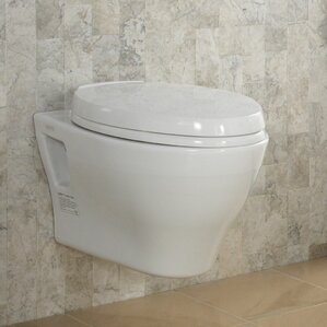 aquia dual flush elongated toilet bowl - Wall Mount Toilet