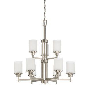 Ebern Designs Bristol 9-Light Shaded Chandelier