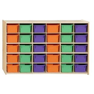 Reviews 30 Compartment Cubby with Trays ByWood Designs