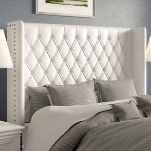 Comparison Center Full Upholstered Wingback Headboard by Greyleigh
