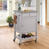 Luka Kitchen Cart by Rosecliff Heights
