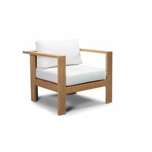 Felicia Teak Club Chair with Cushion by Union Rustic
