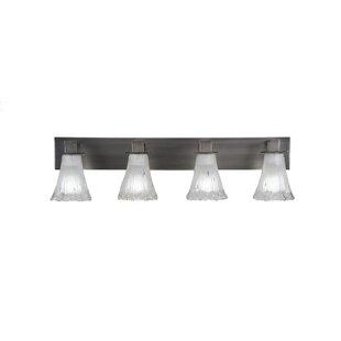 Red Barrel Studio Elburn 4-Light Glass Shade Vanity Light