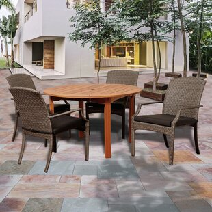 Hartell 5 Piece Dining Set With Cushions By Rosecliff Heights