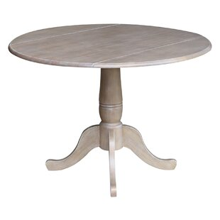 Ollie Drop Leaf Solid Wood Dining Table Canora Grey