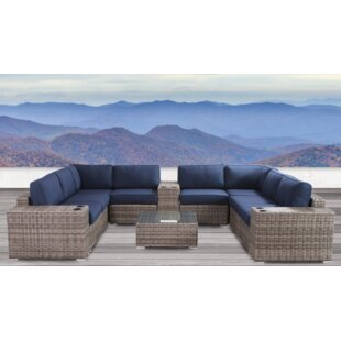 Lue 12 Piece Sunbrella Sectional Set with Cushions by Longshore Tides