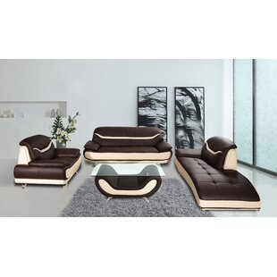Find for Danes 3 Piece Leather Living Room Set by Orren Ellis Reviews (2019) & Buyer's Guide