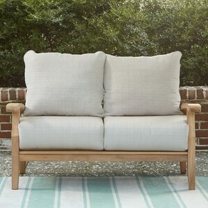 Summerton Teak Loveseat With Cushions Part 56