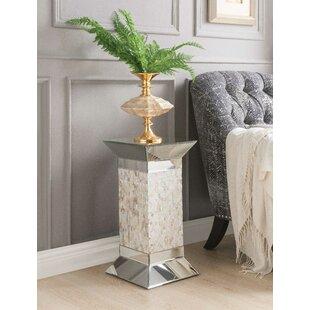 Bargain Flippo Pedestal Stand End Table by Orren Ellis
