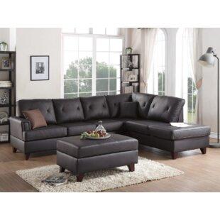 Brayden Studio Bevilacqua 3 Piece Living Room Set