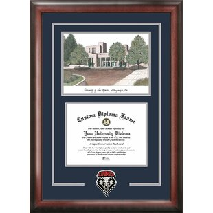 NCAA New Mexico Lobos Spirit Graduate Diploma with Campus Images Lithograph Frame By Campus Images
