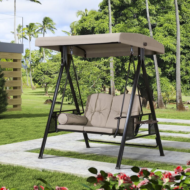 Red Barrel Studio Musa 2 Seat Outdoor Porch Swing With Stand