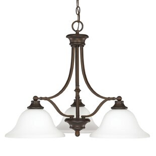Lindenwood 3-Light Shaded Chandelier by Charlton Home