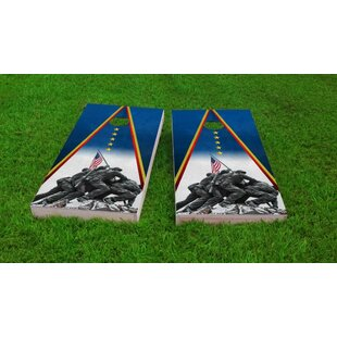 Custom Cornhole Boards Marines Iwo Jima Cornhole Game Set