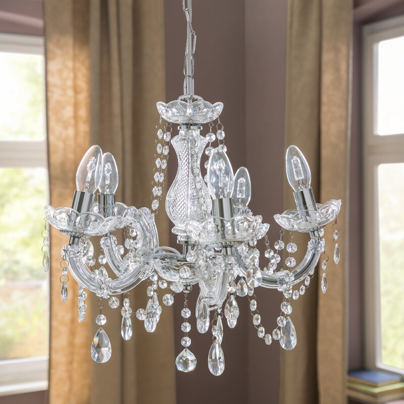 Marie Therese 5 Light Candle Style Chandelier