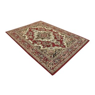 Best Reviews Oriental Classic Red/Black Area Rug BySamnm Trade