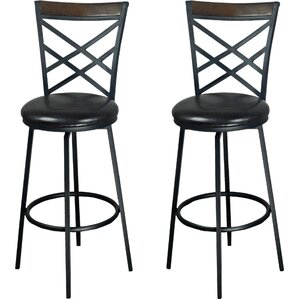 Adjustable Height Swivel Bar Stool (Set of 2) by eHemco