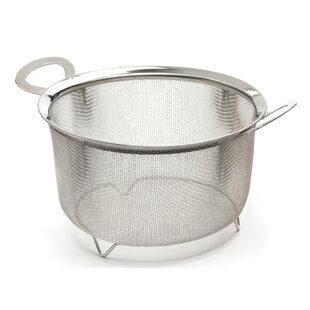 Zigler Wide Rim Mesh Basket Stainless Steel 3-Qt. Food Strainer